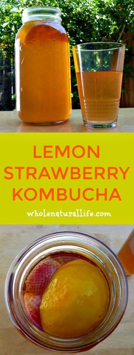 This lemon strawberry kombucha tea recipe sounds amazing for spring and summer months! I can't wait to try it out!