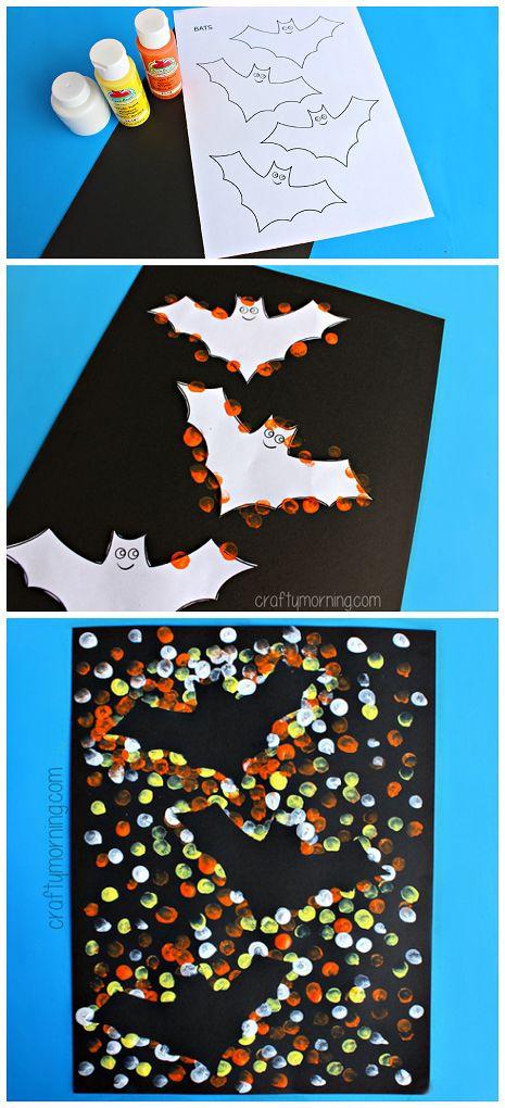 DIY Kids Bat Painting Craft for Halloween