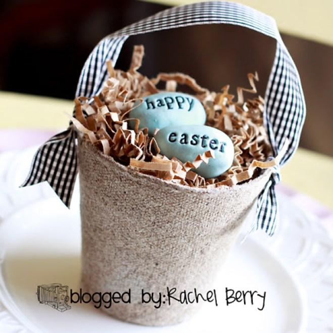 Easter egg nest craft