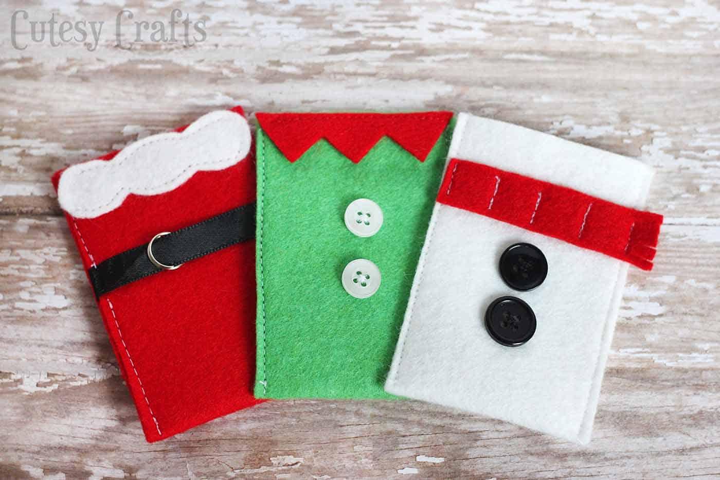 Felt Christmas Gift Card Holders