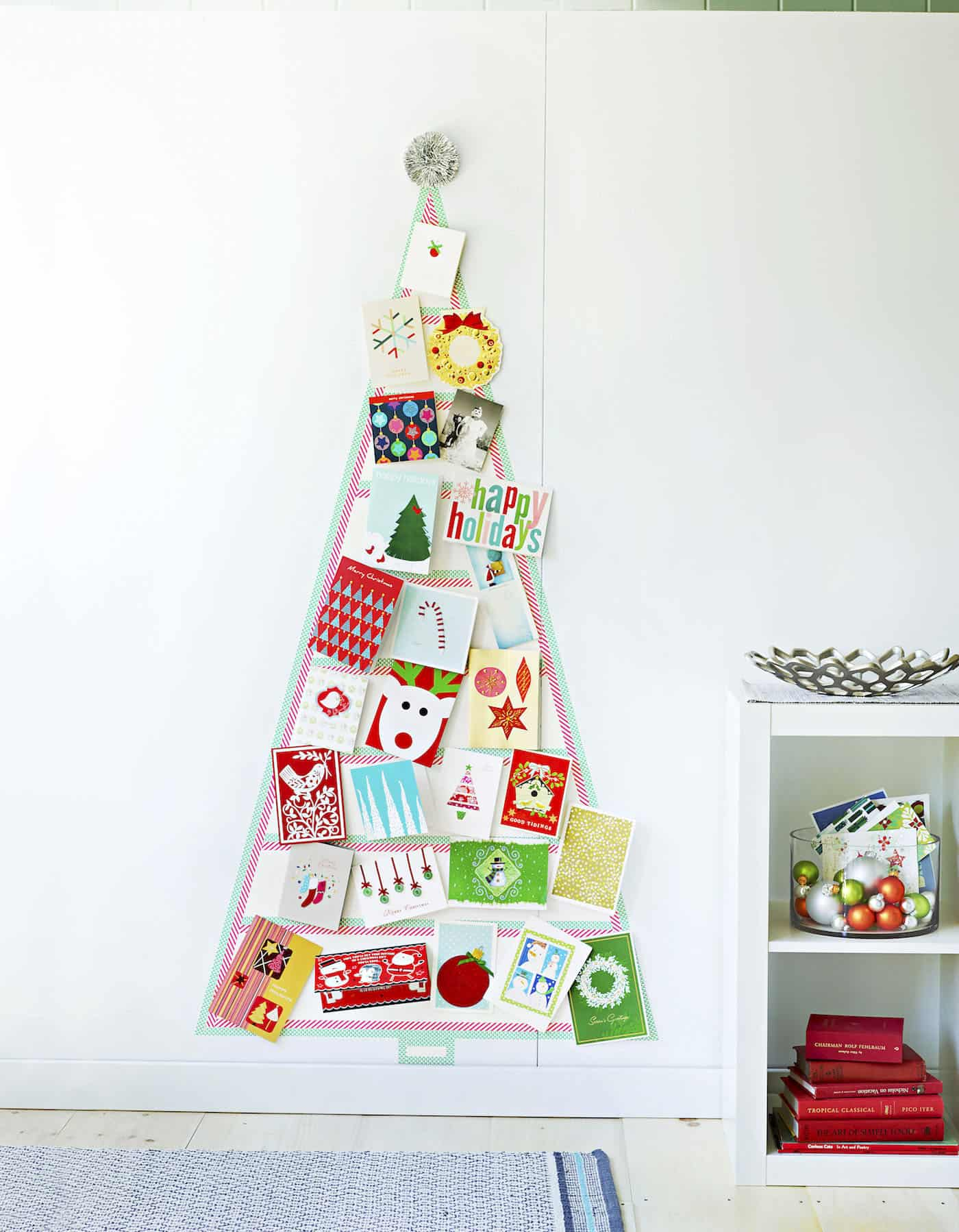 DIY Washi Tape Christmas Card Tree DIY Candy
