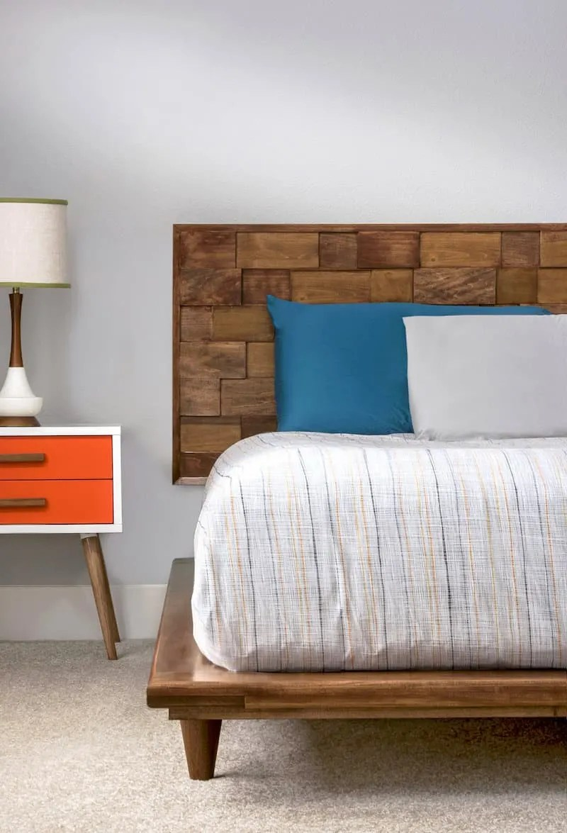 This Diy Platform Bed Frame Is Beautiful And Modern Diy Candy