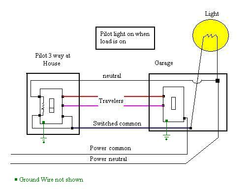 Wiring Diagram For Three-way Switches With Pilot Light