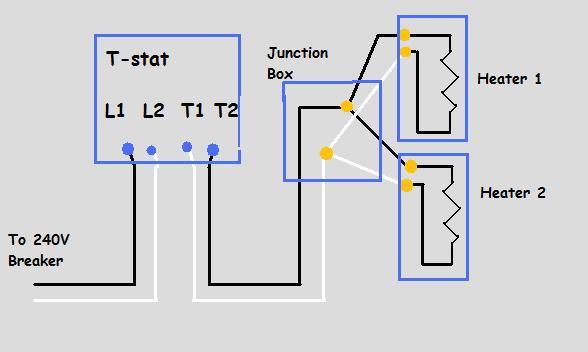 240v Electric Baseboard Heat Wiring Diagram