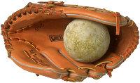 Baseball mitt and ball