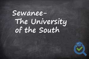Sewanee the University of South chalkboard