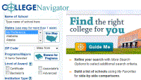 College Navigator Website