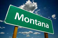 Montana Highway Sign