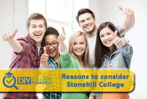 students happy to go to Stonehill College