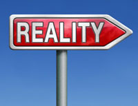 Reality sign post