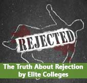 body outline representing rejection by elite colleges