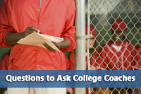 coach in dugout representing questions to ask college coaches