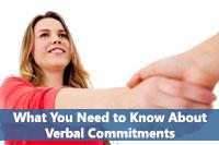 hand shake representing verbal commitments