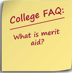 Post-it note asking What is merit aid?