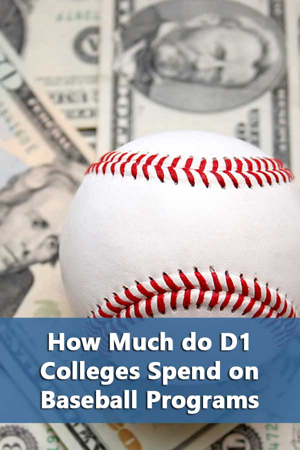 Listing of D1 Baseball Colleges with operating expenses.