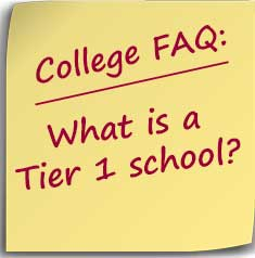 Postit FAQ-What is a Tier 1 school?