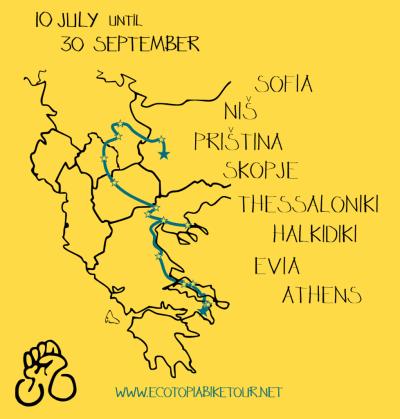Ecotopia Biketour Route 2014
