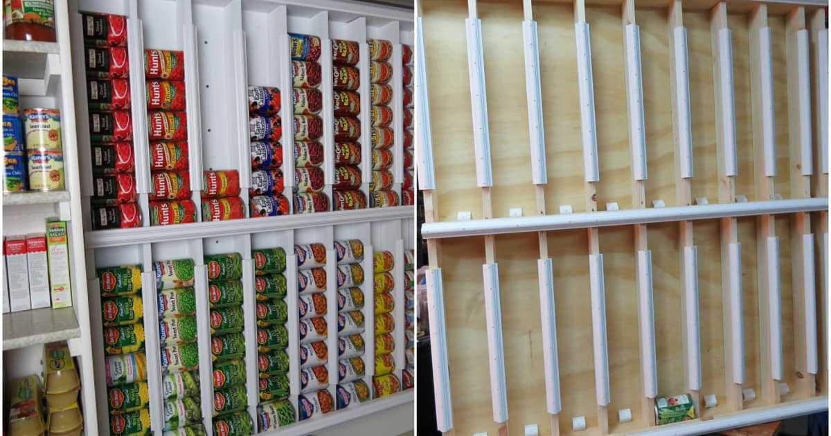Diy Canned Food Dispenser For The Pantry