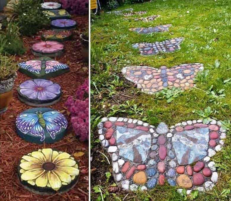 23 Fun and Whimsical Garden Stepping Stone Ideas | DIY ... on Stepping Stone Patio Ideas  id=65541