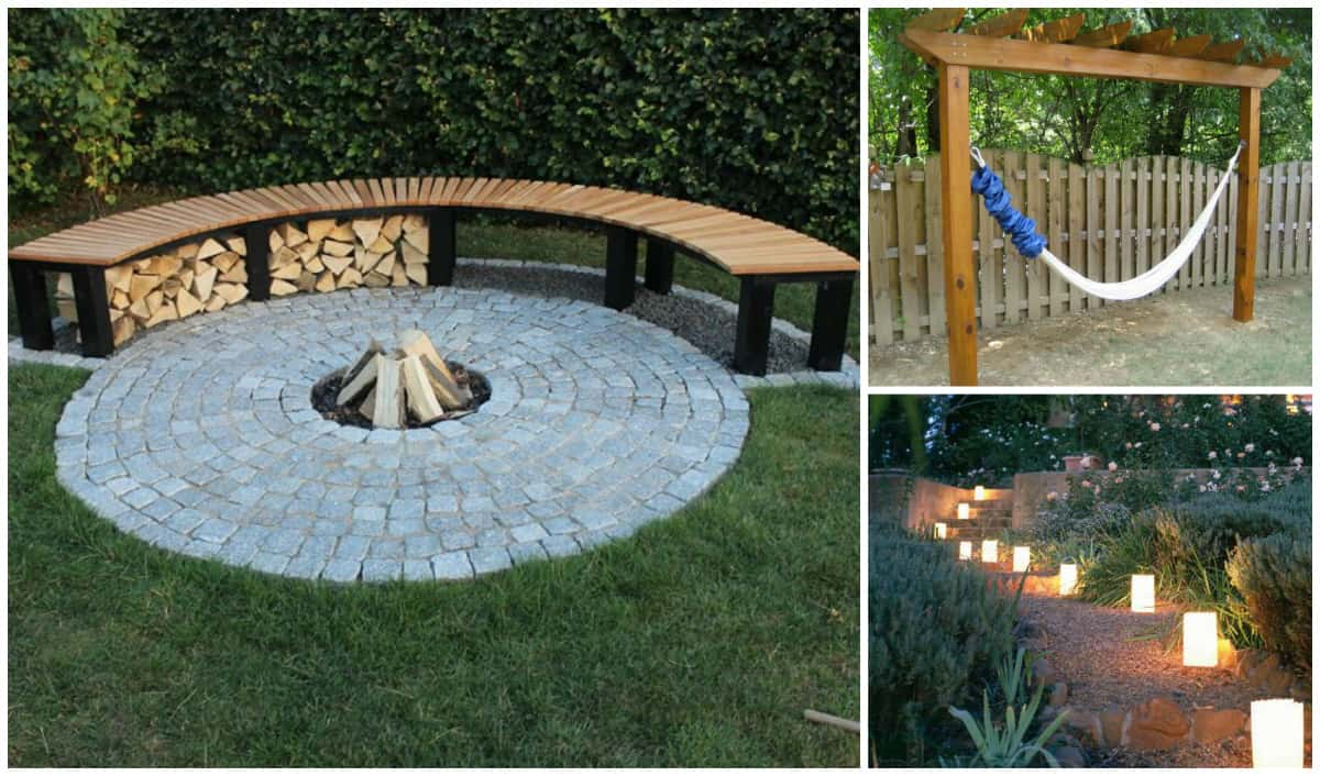 Summer Time Backyard DIY Projects You'll Go Crazy For ... on Diy Back Patio Ideas id=51779