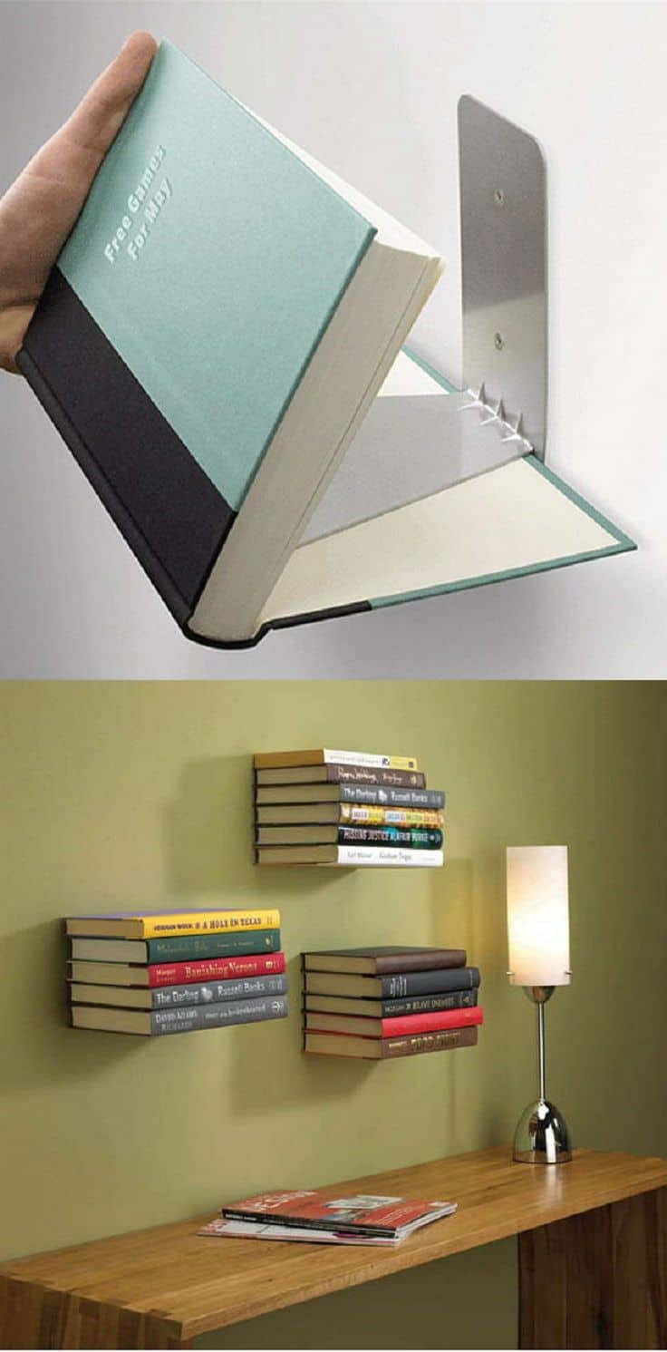 18 Unbelievably Cheap But Awesome DIY Home Decor Projects bookshelf