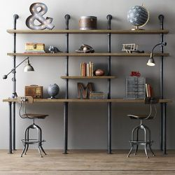 Amazing 30+ DIY Industrial Pipe Shelves
