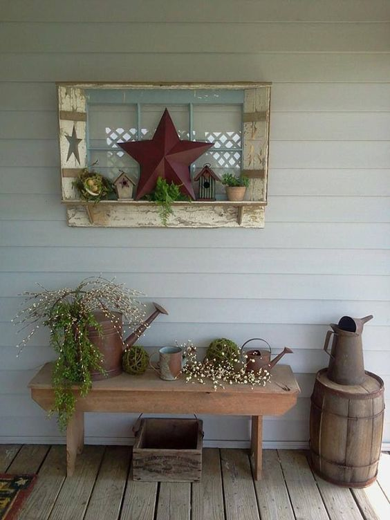 Top 70 DIY Patio and Porch Decor Ideas (2017) - Crafts and ... on Country Patio Ideas id=13342