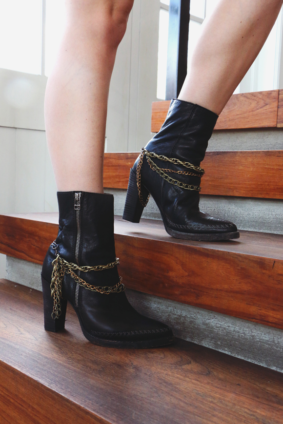 DIY Boot Chains: Dress Up Your Favorite Shoes For Fall