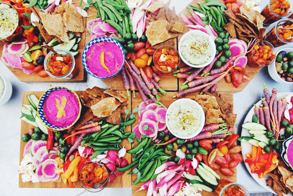 Bright Beet-Feta Dip With Market Crudite From Nourish Kitchen & Table