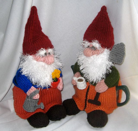 Gnome Tea Cosy and Toy Gnome – KNITTING PATTERN – downloadable file by RianAnderson