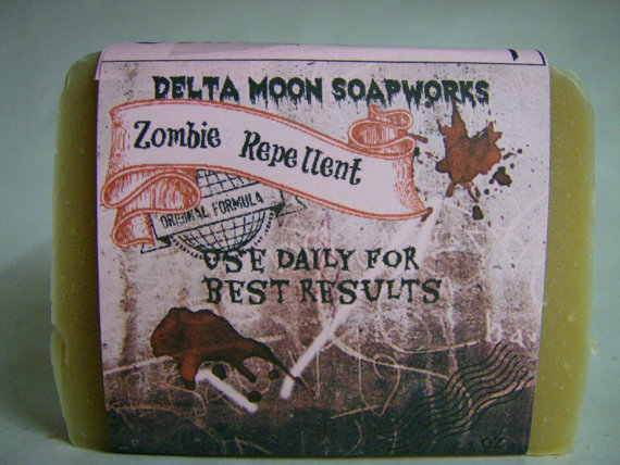 Zombie Repellent Goat Milk Soap, handmade Goat Milk, Halloween, black cherry, Cold Process , olive oil , sensitive skin, unisex, EcoFriendly by deltamoonsoap