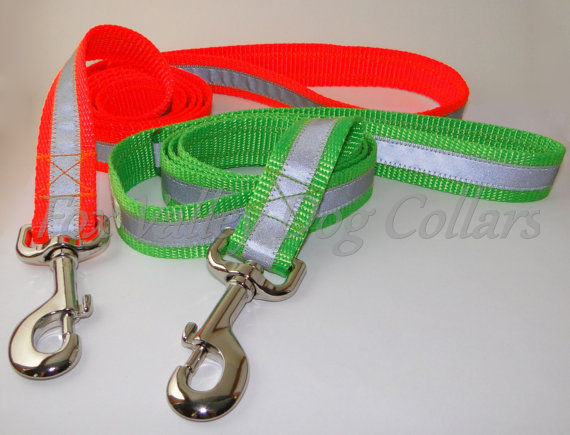 Reflective Safety Leashes – many colors and lengths by FoxValleyDogCollars