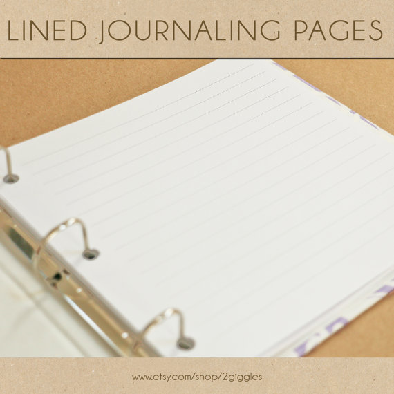 Lined Journaling Page – Include in your Two Giggles Baby Album by 2giggles