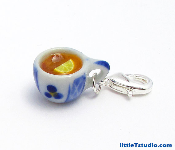A Spot of English Tea Jewelry Clip! Adorably Cute! by littleTstudio