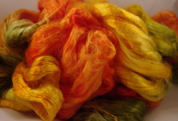 Bamboo Combed Top Roving Spinning Fiber Sample by FiberLady