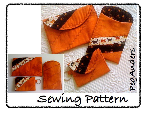 3 Bag accessories Easy Access cases sewing pattern pdf instant downloading by PegAnders
