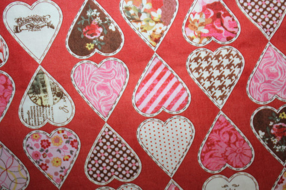 Basic Grey Kissing Booth Moda Fabrics Made in Japan 30312 Pink Red Hearts by 36OldsGal
