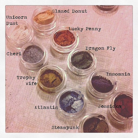 SALE-10 Vegan Eye Shadows for 20 Dollars by gothcupcake