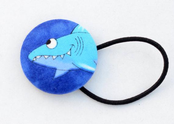 Shark Week Hair Button by brinnet
