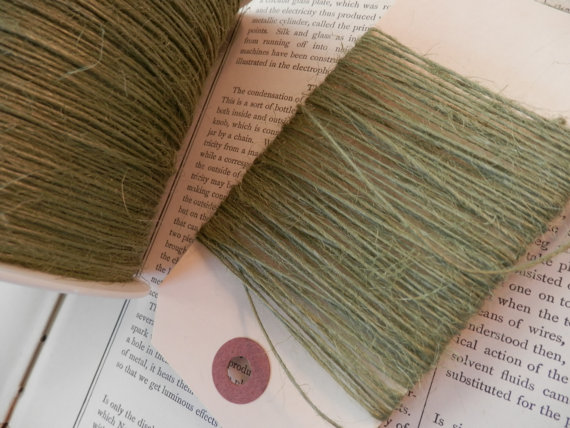 Jute Twine Leaf Green Thin Strong by PaperPastiche