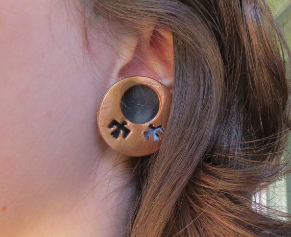 Vintage Copper Thunderbird Earrings by wcgoods