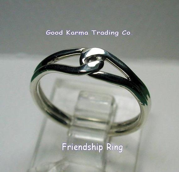 Sterling Silver Friendship Ring by silverknots