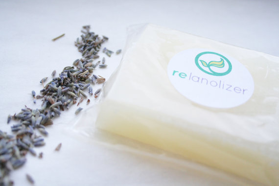 Lanolin Soap for Wool Care – Organic Relanolizer – Lanolize Wool Diaper Covers – organic lavender and organic patchouli -glycerin by rebourne