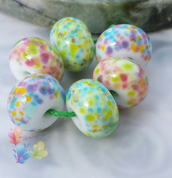 Lampwork Glass Beads Bloomin Marvellous by GlitteringprizeGlass