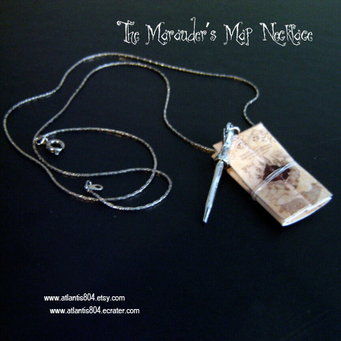 The Marauder's Map Necklace- (etsy) by atlantis804