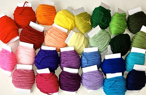 Mega Assortment of Yarn Scraps – 27 Colors – 20 yards on each roll of Yarn – Craft Supplies by DestinyPhoebe