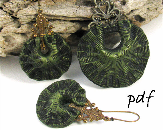 Polymer clay beads tutorial, hollow crescent beads, pdf tutorial, instant download by PolymerClayTutorials