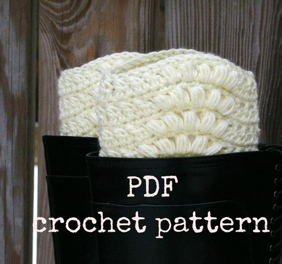 Crochet Pattern Boot Cuffs Pattern Boot Socks Instant Download by CandacesCloset
