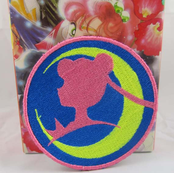 Sailor Guardian of the Moon Profile Machine embroidered Iron on or Sew on Patch by cherriesama