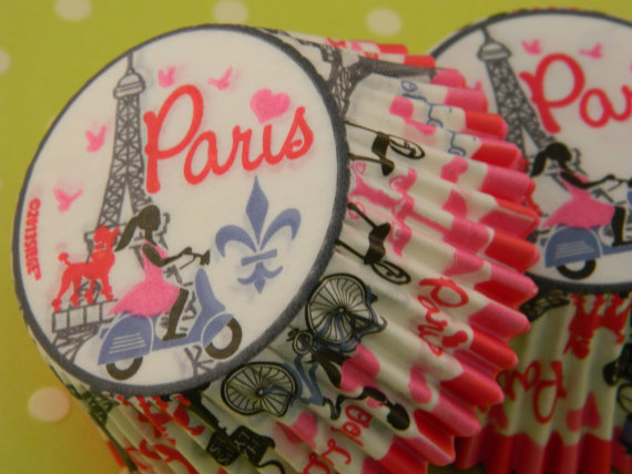 Paris Cupcake Liners / Baking Cups / by ChristyMaries83